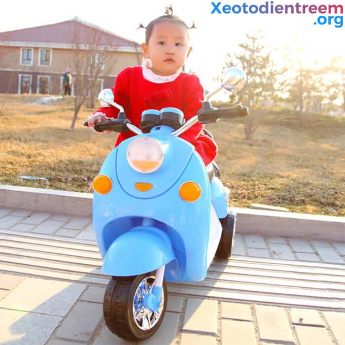 xe máy điện dễ thương cho bé gái 5