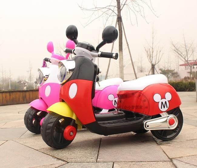 xe máy điện dễ thương cho bé gái 1