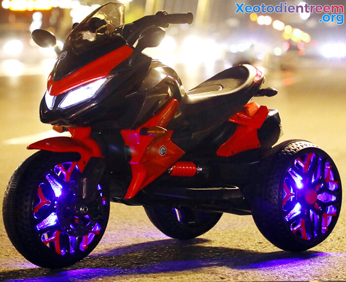 Xe mô tô điện 3 bánh cho bé 5188 7
