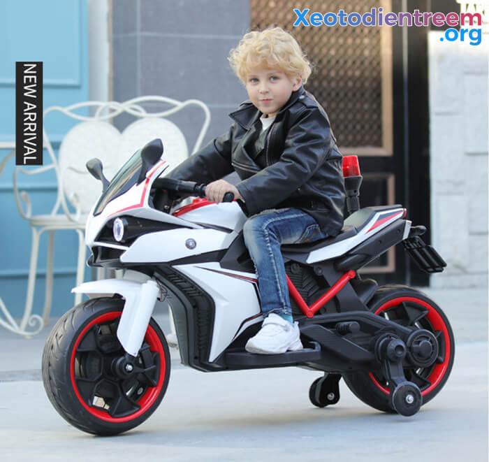 Xe mô tô điện trẻ em Police 3288 4