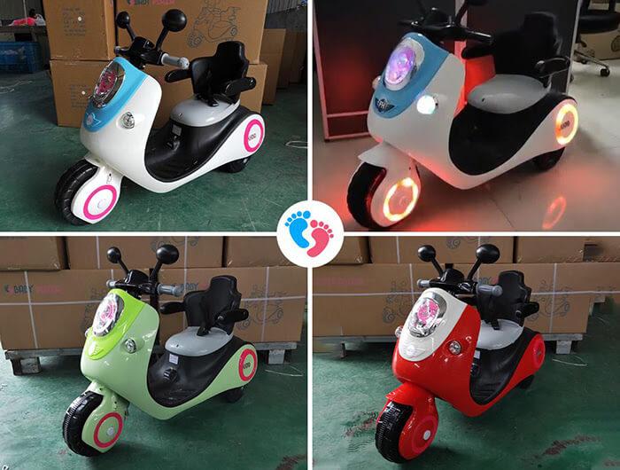 Xe máy điện đồ chơi cho bé Vespa 606 1