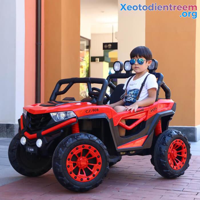 Xe oto điện cho bé CL-908 ghế da cao cấp 5