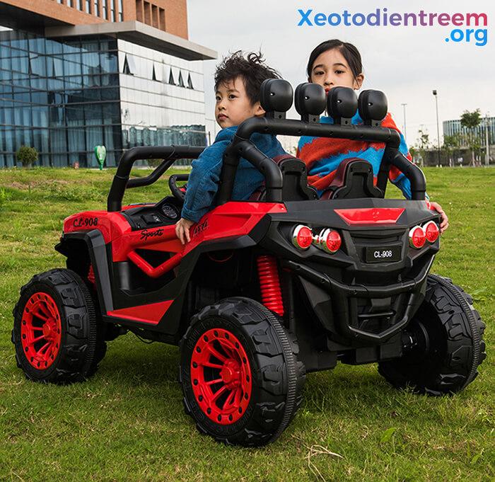 Xe oto điện cho bé CL-908 ghế da cao cấp 6