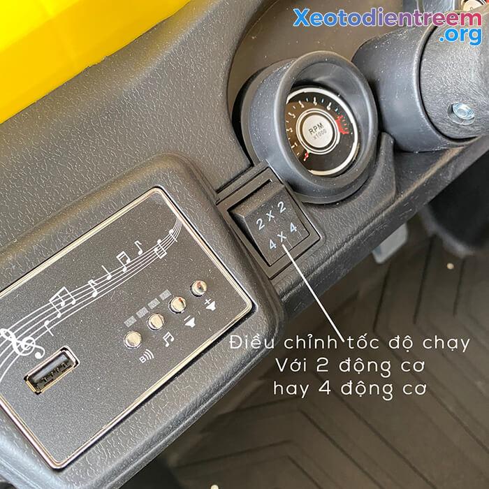 Xe ô tô điện Jeep cao cấp 4 động cơ HC-301 13